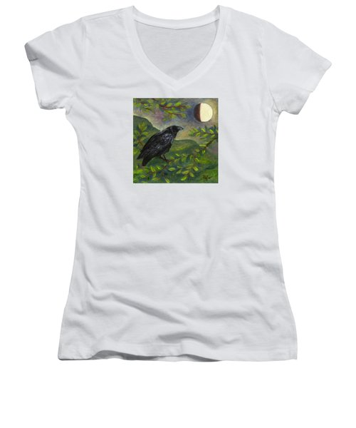 Spring Moon Raven Women's V-Neck