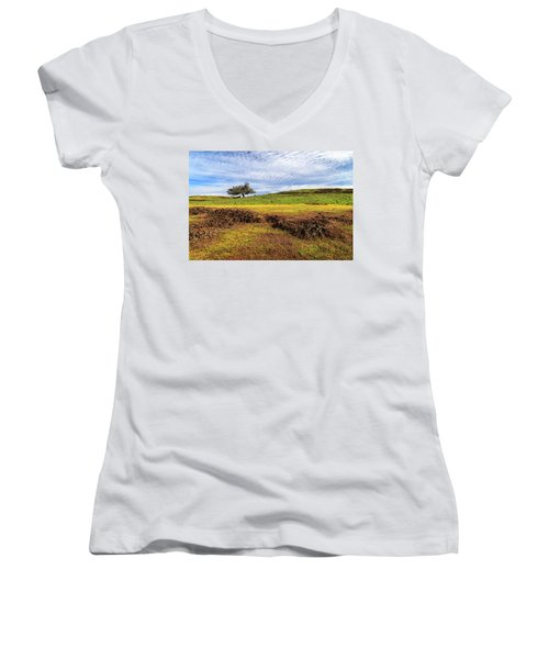 Spring On North Table Mountain Women's V-Neck T-Shirt (Junior Cut) by James Eddy