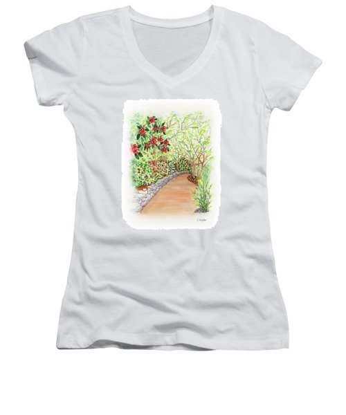 Spring Rhodies Women's V-Neck