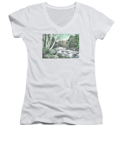 Spring Runoff Women's V-Neck (Athletic Fit)