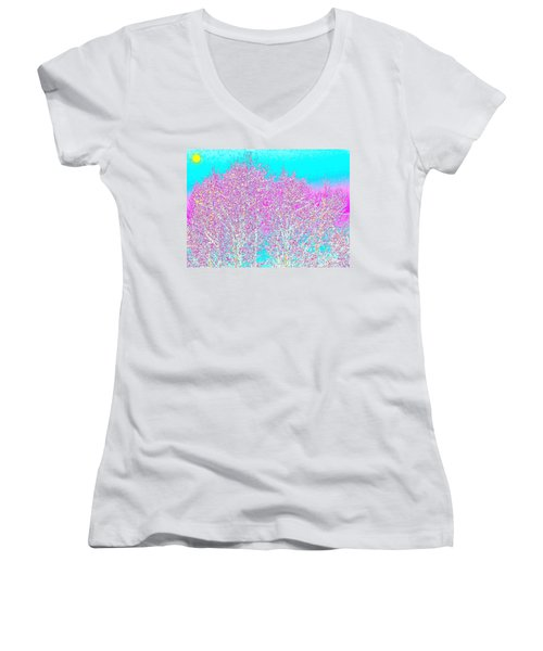 Spring Women's V-Neck T-Shirt (Junior Cut)