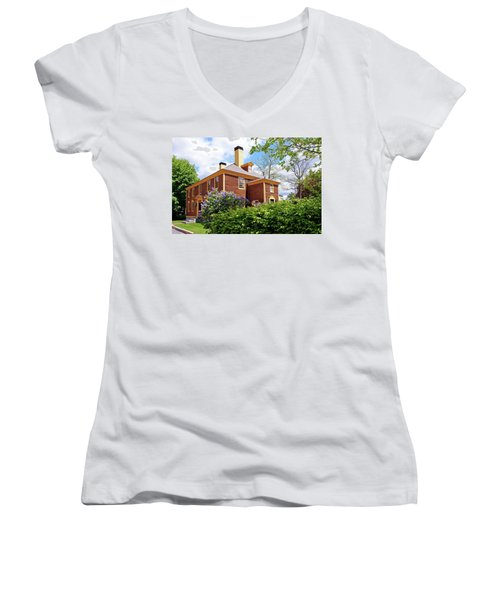 Springtime At Folsom Tavern Women's V-Neck