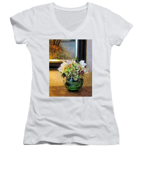 Springtime Delight 1 Women's V-Neck T-Shirt (Junior Cut) by Cedric Hampton