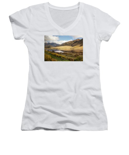 Springtime In New Zealand Women's V-Neck (Athletic Fit)
