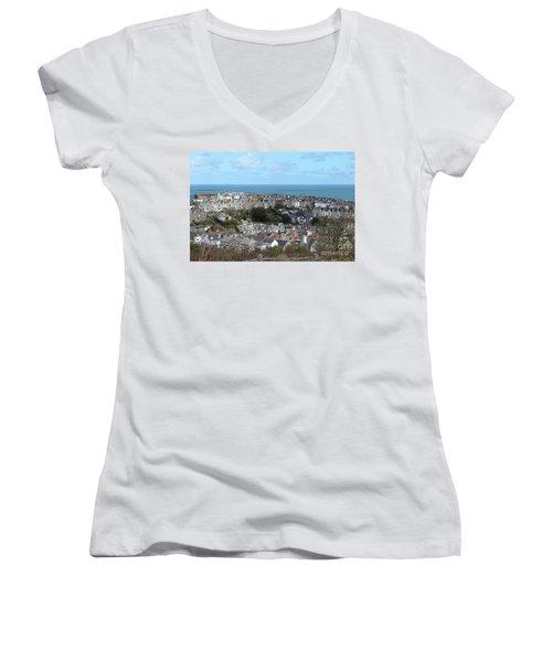 St Ives, Cornwall, Uk Women's V-Neck T-Shirt (Junior Cut) by Nicholas Burningham