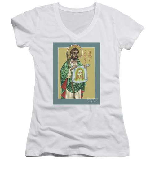 St Jude Patron Of The Impossible 287 Women's V-Neck