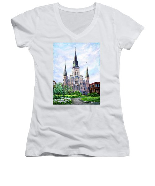 St. Louis Cathedral Women's V-Neck (Athletic Fit)