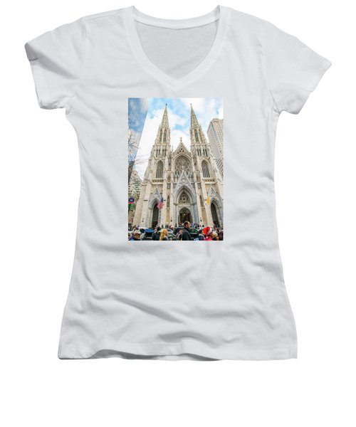 St. Patrick Cathedral In New York Women's V-Neck