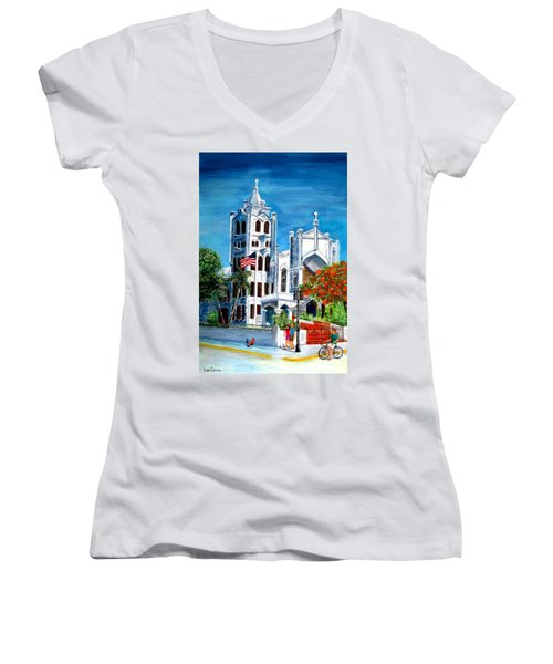 St. Paul's Church  Women's V-Neck (Athletic Fit)