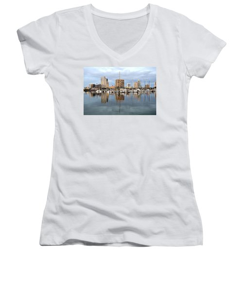 St Petersburg Marina Women's V-Neck (Athletic Fit)