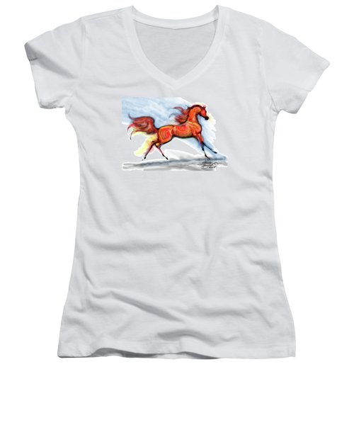 Staceys Arabian Horse Women's V-Neck T-Shirt