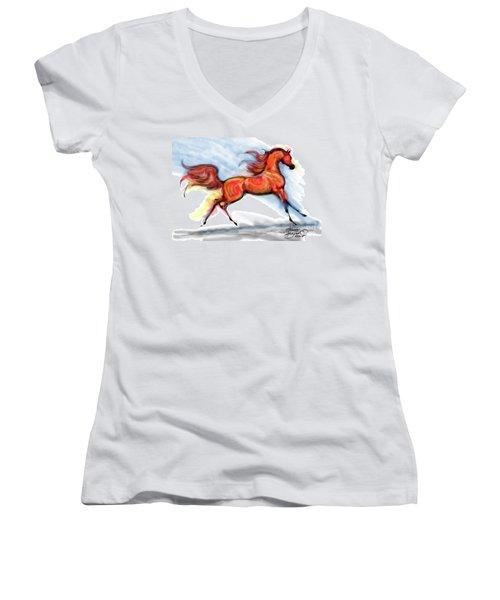 Staceys Arabian Horse Women's V-Neck (Athletic Fit)