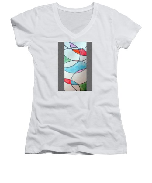 Stain Glass Women's V-Neck (Athletic Fit)