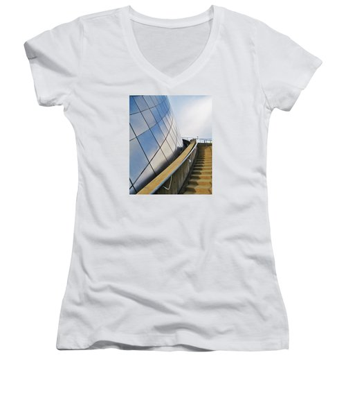 Staircase To Sky Women's V-Neck T-Shirt (Junior Cut) by Martin Cline