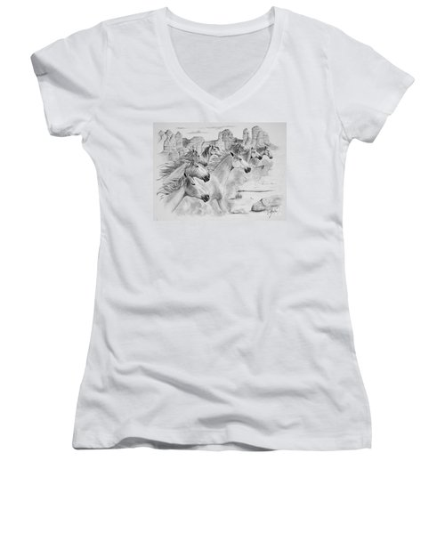 Stampede In Sedona Women's V-Neck (Athletic Fit)