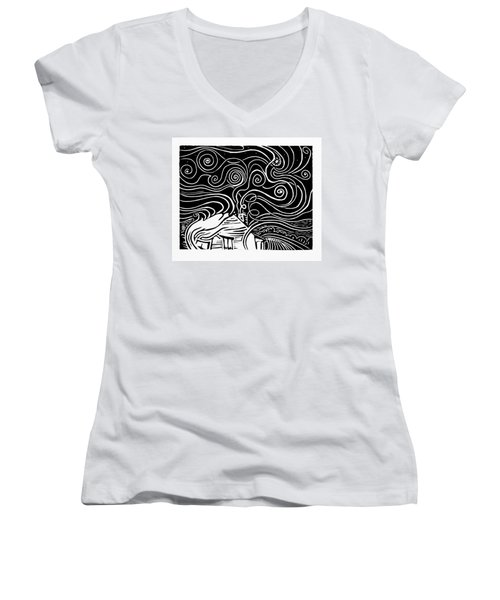 Starry Cabin Women's V-Neck T-Shirt