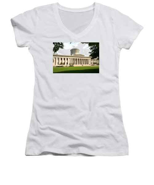 State Capitol Of Ohio Women's V-Neck (Athletic Fit)