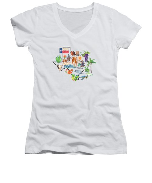State Of Texas As I Know It Women's V-Neck