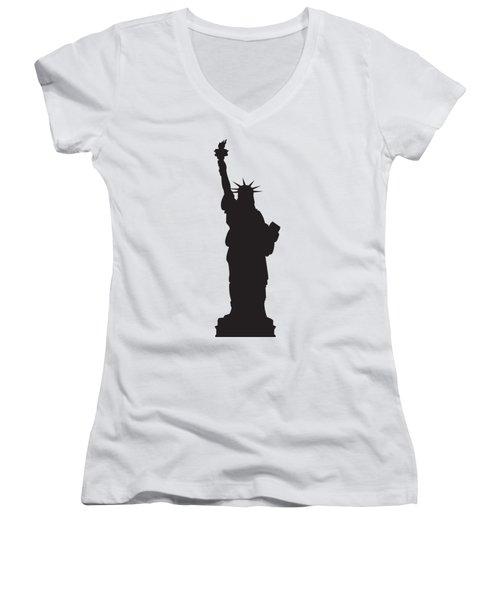 Statue Of Liberty Women's V-Neck T-Shirt