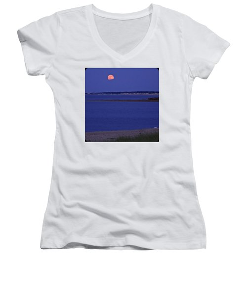 Stawberry Moon Women's V-Neck