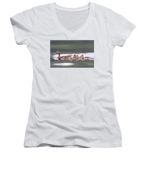 Stay In Line... Women's V-Neck T-Shirt
