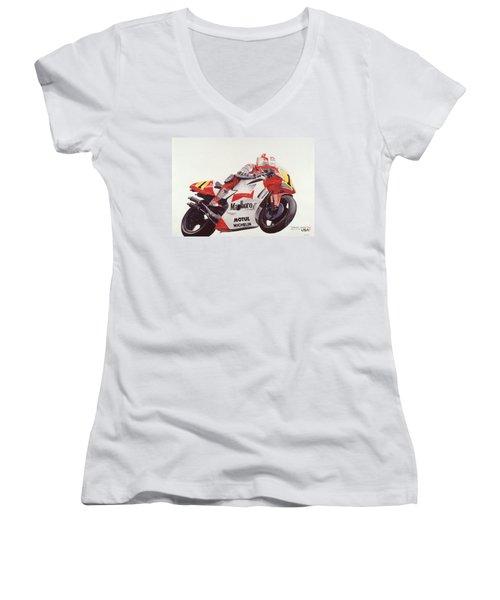 Steady Eddie Women's V-Neck T-Shirt