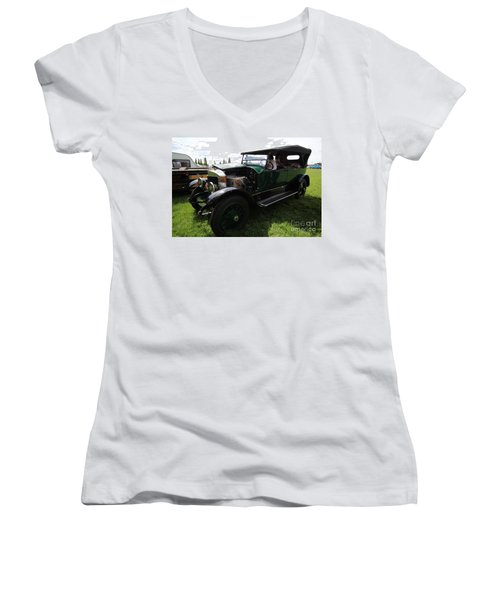 Steam Car Women's V-Neck (Athletic Fit)