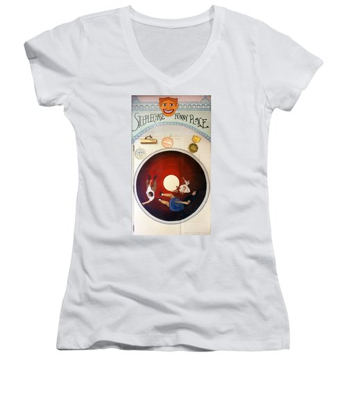 Steeple Chase Funny Place Women's V-Neck