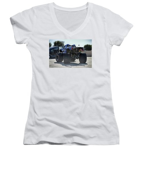Women's V-Neck T-Shirt (Junior Cut) featuring the photograph Steer Me by Bill Dutting