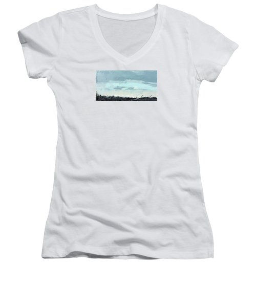 Still. In The Midst Women's V-Neck T-Shirt (Junior Cut) by Nathan Rhoads
