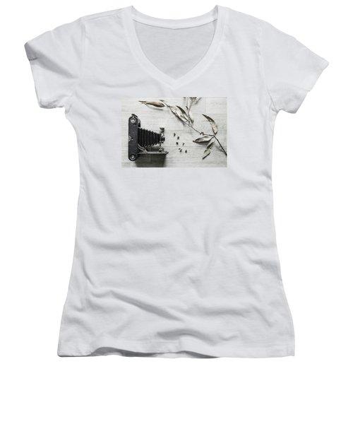 Still Life Number 1 Women's V-Neck T-Shirt (Junior Cut) by Keith Hawley