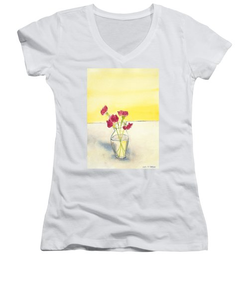 Still Life With Roses Women's V-Neck T-Shirt
