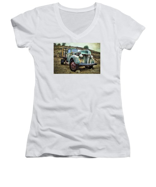 Still Truckin' Women's V-Neck T-Shirt