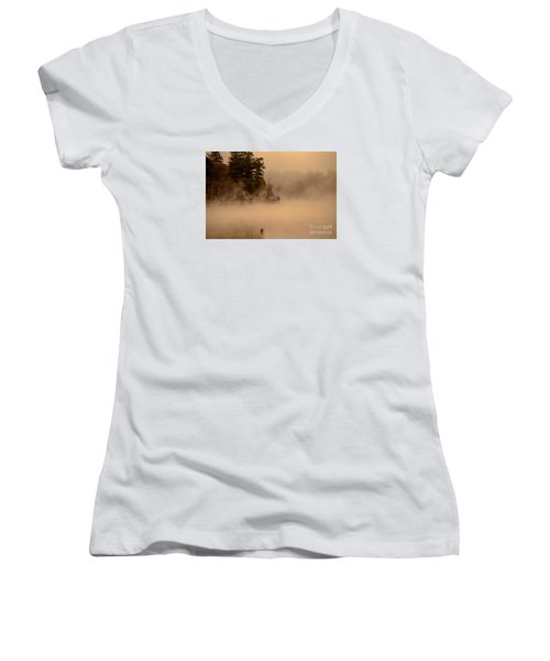 Stillness Of Autumn Women's V-Neck T-Shirt