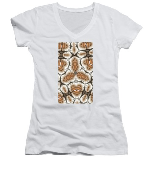Stitched 2 Women's V-Neck T-Shirt