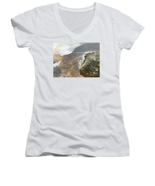 Stone Cold Women's V-Neck T-Shirt (Junior Cut) by Jason Nicholas