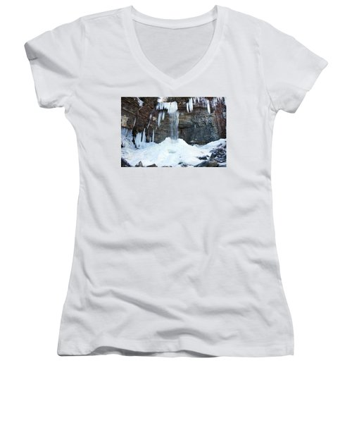 Stony Kill Falls In February #2 Women's V-Neck (Athletic Fit)