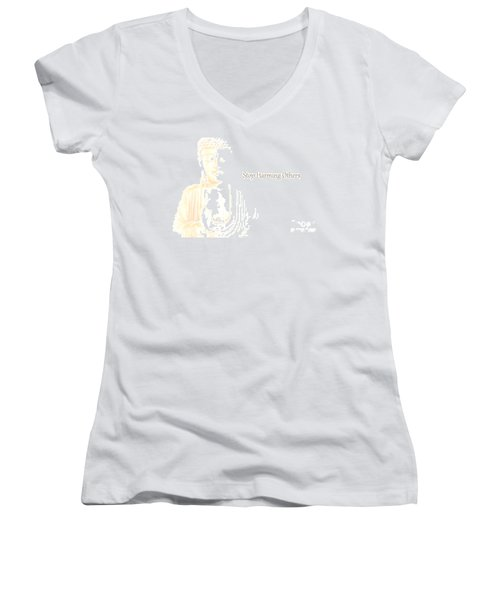 Stop Harming Others Women's V-Neck