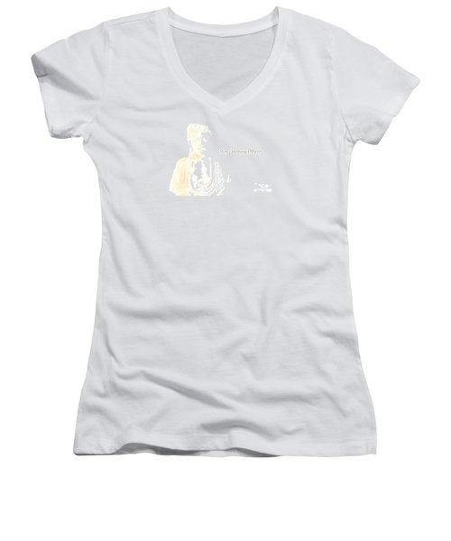 Stop Harming Others Women's V-Neck (Athletic Fit)