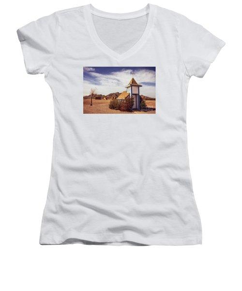 Stop Rest Worship Women's V-Neck T-Shirt (Junior Cut) by Robert Bales