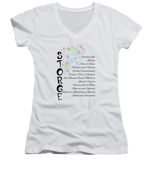 Storge- Familial Love Women's V-Neck T-Shirt