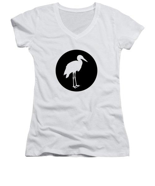 Stork Women's V-Neck T-Shirt (Junior Cut) by Mordax Furittus
