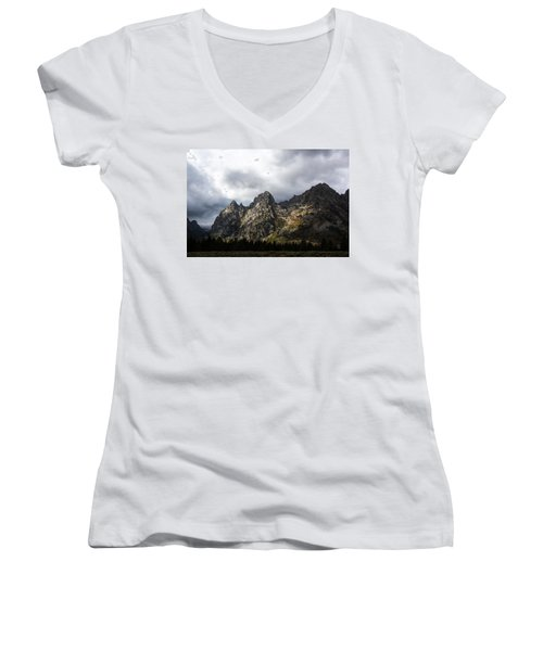 Women's V-Neck T-Shirt featuring the photograph Storming Light by Colleen Coccia