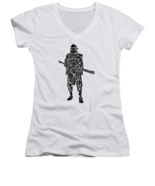 Stormtrooper Samurai - Star Wars Art - Black Women's V-Neck (Athletic Fit)