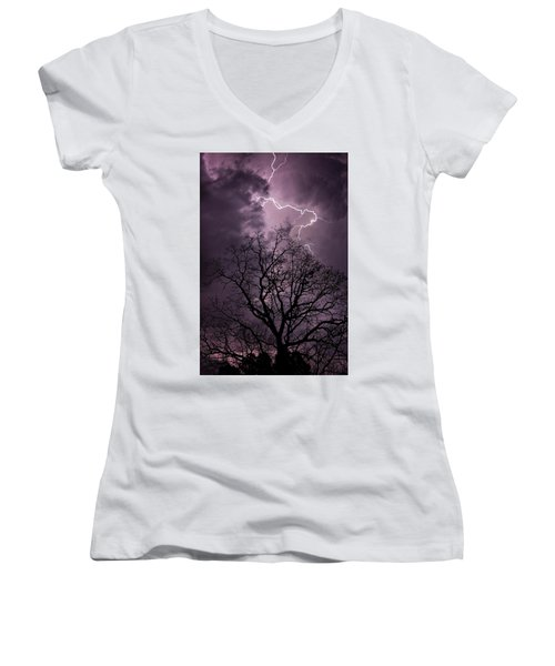 Stormy Night Women's V-Neck