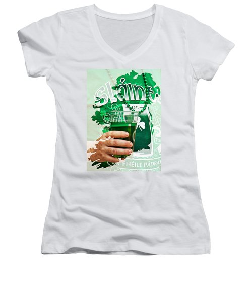St. Patrick's Day Women's V-Neck