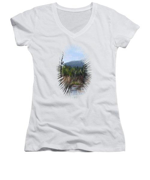 Stream Women's V-Neck T-Shirt (Junior Cut) by Ivana Westin