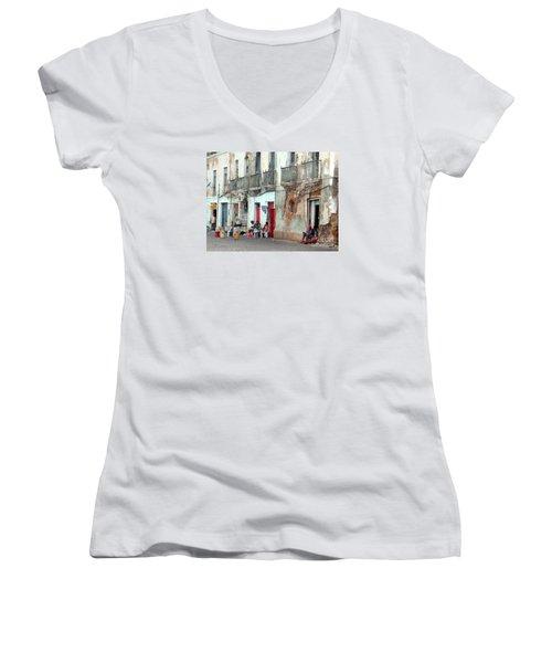Street Scene Luanda, Angola Women's V-Neck T-Shirt