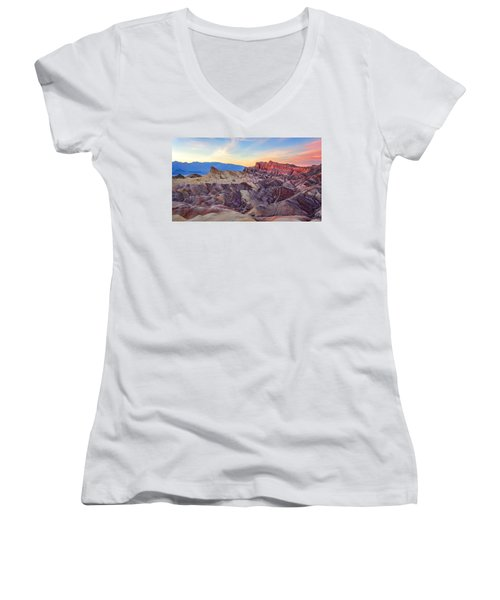 Striated Erosion Women's V-Neck