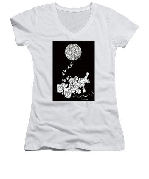 String Energy 1 Women's V-Neck T-Shirt